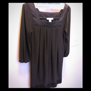 White House Black Market 3/4 sleeve black dress